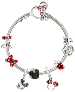 Chamilia Charm Bracelet with Disney Charms