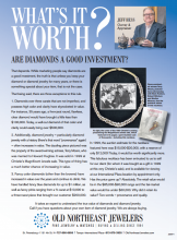 What's It Worth? - Are Diamonds A Good Investment?
