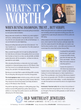 What's It Worth? When Buying Diamonds, Trust But Verify