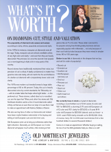 What's It Worth? On Diamonds: Cut, Style And Valuation