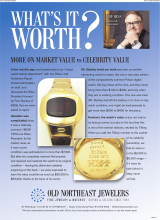What's It Worth - More On Market Value Vs Celebrity Value