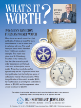 What's It Worth? 1936 Men's Hamilton Fireman Pocket Watch