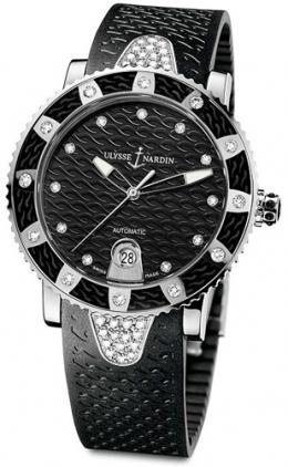 Lady Diver Stainless Steel with Diamonds Ulysse Nardin 8103-101E-3C/12 ladies