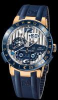 El Toro GMT Perpetual Calendar 18K Rose Gold with Ceramic Bezel Ulysse Nardin 326-00-3 mens